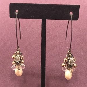Long faux pearl and crystal earrings 2/$10 Sale